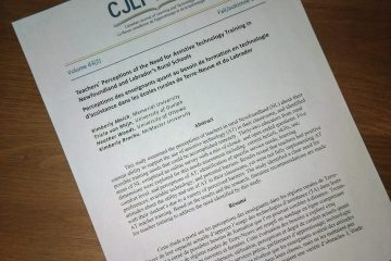 Cover Page of New Article in CJLT