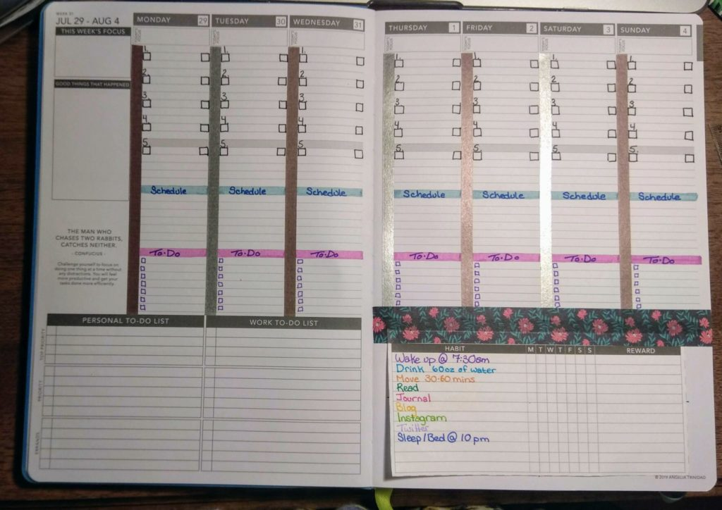 My weekly layout alterations